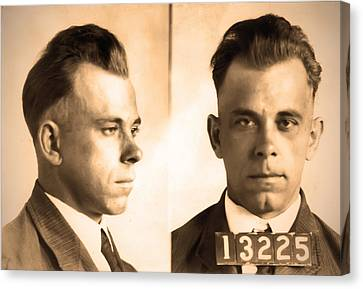 John Dillinger - Public Enemy Canvas Print by Bill Cannon