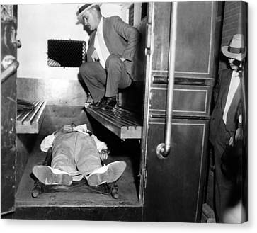 John Dillinger, Dead With Toes Canvas Print by Everett