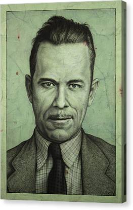Robbers Canvas Print - John Dillinger by James W Johnson