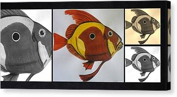 Canvas Print - John Dory Collage by Joan Stratton