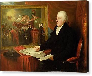 Half-length Canvas Print - John Eardley Wilmot  by Benjamin West