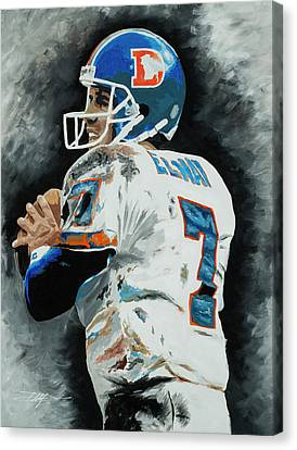 Canvas Print - John Elway 1 by Don Medina