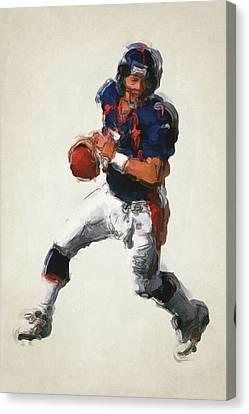 John Elway Denver Broncos Art 2 Canvas Print by Joe Hamilton