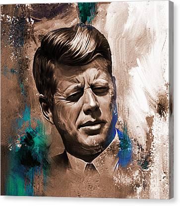 International Democrat Union Canvas Print - John F. Kennedy 02 by Gull G