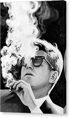 John F. Kennedy Artwork 1 Canvas Print by Sheraz A