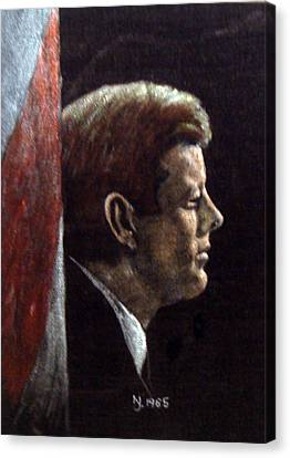 John F. Kennedy Canvas Print by Norman F Jackson