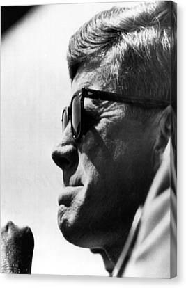 John F. Kennedy, Watches Canvas Print by Everett