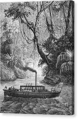 John Fitch Steamboat Canvas Print by Granger