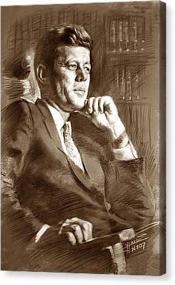 John Fitzgerald Kennedy Canvas Print by Ylli Haruni