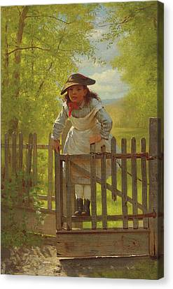 John George Brown The Tomboy 1873 Canvas Print by Movie Poster Prints