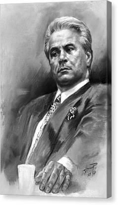 White Canvas Print - John Gotti by Ylli Haruni
