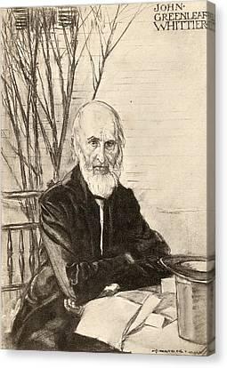 John Greenleaf Whittier 1807-1892 Canvas Print by Vintage Design Pics