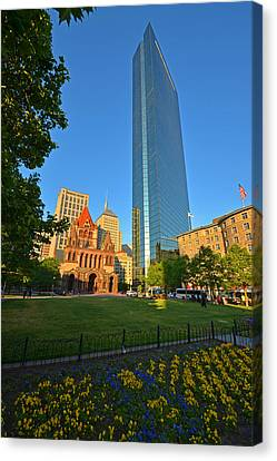 John Hancock Tower Boston Ma Canvas Print by Toby McGuire