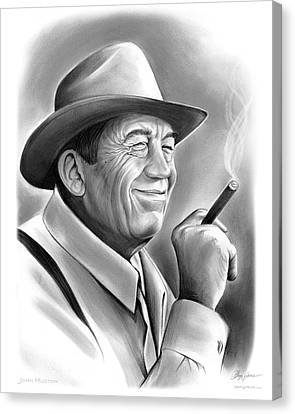 Maltese Canvas Print - John Huston by Greg Joens