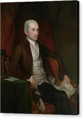 John Jay Canvas Print by Gilbert Stuart