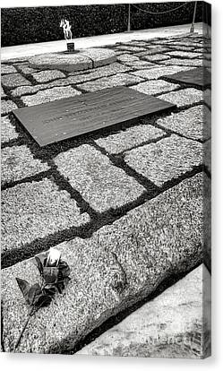 Arlington National Cemetery Canvas Print - John Kennedy Gravesite by Olivier Le Queinec