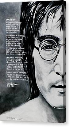 John Lennon - Imagine Canvas Print by Eddie Lim