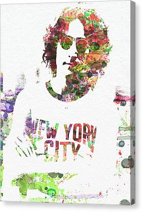 John Lennon 2 Canvas Print by Naxart Studio