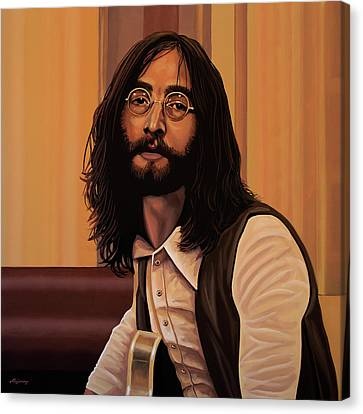 Yesterday Canvas Print - John Lennon Imagine by Paul Meijering