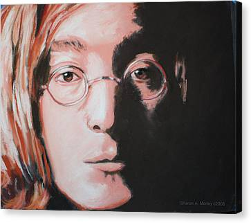 John Lennon  Imagine Canvas Print by Sharon Morley  APS