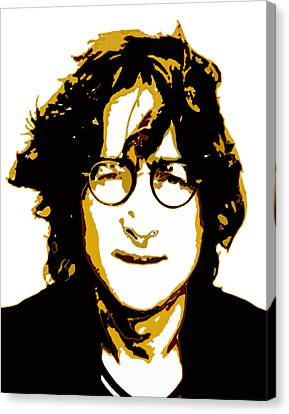 John Lennon In Shades Of Brown Canvas Print by Jera Sky