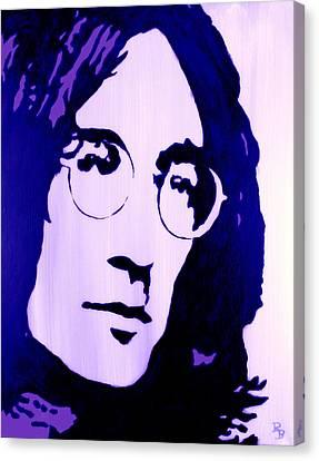 Four Strawberries Canvas Print - John Lennon, Little Boy Blue by Bob Baker