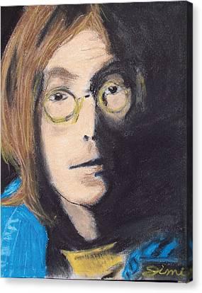 John Lennon Pastel Canvas Print by Jimi Bush