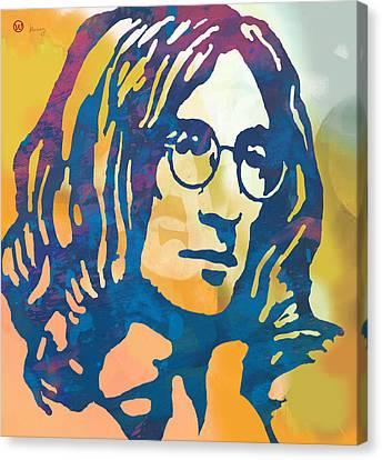 John Lennon Pop Art Poster Canvas Print by Kim Wang