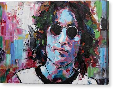Canvas Print featuring the painting John Lennon by Richard Day