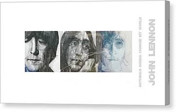Songwriter Canvas Print - John Lennon Triptych by Paul Lovering