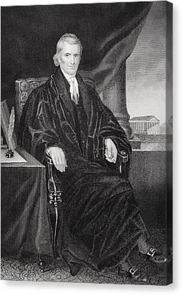 John Marshall 1755-1835. American Canvas Print by Vintage Design Pics