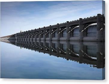 John Martin Dam And Reservoir Canvas Print by Ernie Echols
