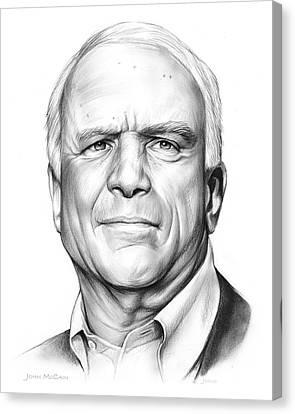 John Mccain Canvas Print by Greg Joens
