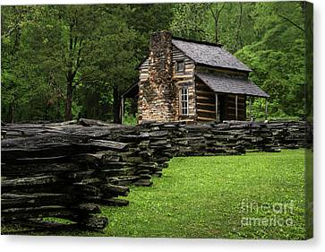 John Oliver Cabin Canvas Print by Andrea Silies