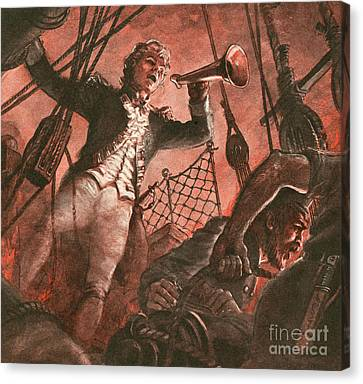 John Paul Jones, Founder Of The American Navy Canvas Print by Peter Jackson