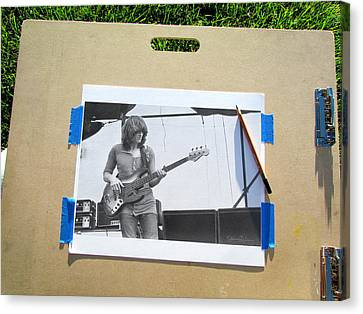 Led Zeppelin Artwork Canvas Print - John Paul Jones by James Dylan