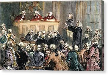 John Peter Zenger Trial Canvas Print by Granger