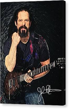 John Petrucci Canvas Print by Taylan Apukovska