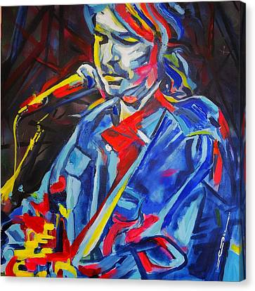 Canvas Print featuring the painting John Prine #3 by Eric Dee
