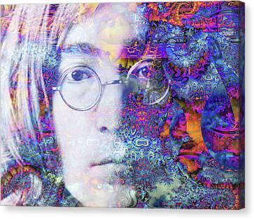 Canvas Print featuring the digital art John by Robert Orinski
