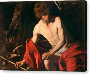 John The Baptist By Caravaggio, Circa 1603 Canvas Print