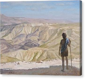 John The Baptist In The Desert Canvas Print
