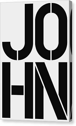 John Canvas Print by Three Dots