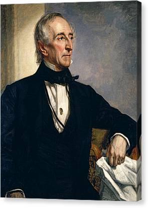 John Tyler Canvas Print by George Peter Alexander Healy