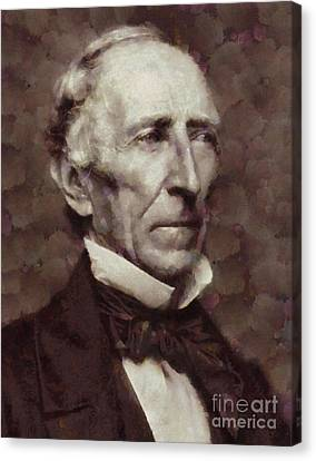 John Tyler, President Of The United States By Sarah Kirk Canvas Print