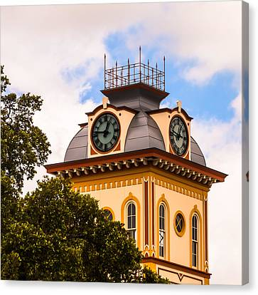 John W. Hargis Hall Clock Tower Canvas Print