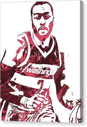 John Wall Washington Wizards Pixel Art 3 Canvas Print by Joe Hamilton