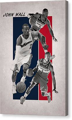 John Wall Wizards Canvas Print by Joe Hamilton