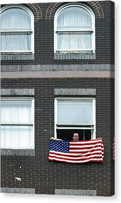 John Waves His Flag Canvas Print by Jez C Self