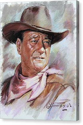 Cowboys Canvas Print - John Wayn by Ylli Haruni